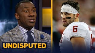 Shannon Sharpe reveals why he's not buying Sooners' Baker Mayfield as an NFL QB | UNDISPUTED