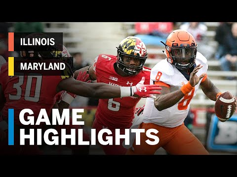 Highlights: Illinois Fighting Illini vs. Maryland Terrapins | Big Ten Football