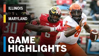Highlights: Illinois Fighting Illini Vs. Maryland Terrapins   Big Ten Football