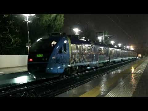 Trains On The Rain At Athens Central Railway Station