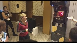 Repeat youtube video UFC Fighters Compete in Punching Machine at UFC Athlete Summit