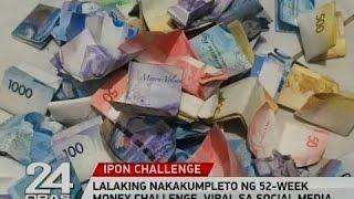 Lalaking nakakumpleto ng 52-week money challenge, viral sa social media