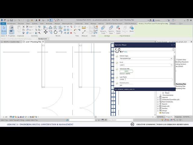 Crear tuberías con archivos CAD desde Revit con Dynamo | Demostración