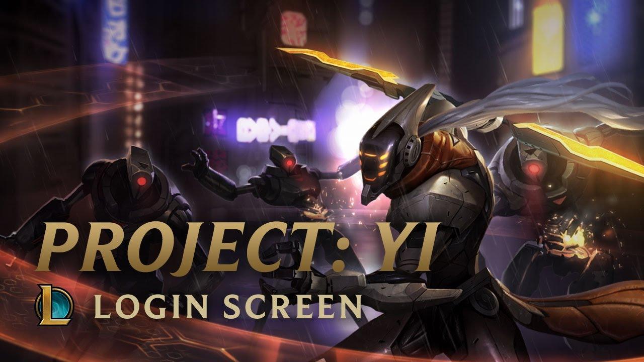 Project Master Yi Login Screen League Of Legends Youtube