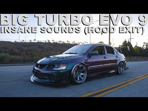 EVO 9 BIG TURBO WITH HOOD EXIT