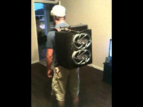 Speaker bookbag