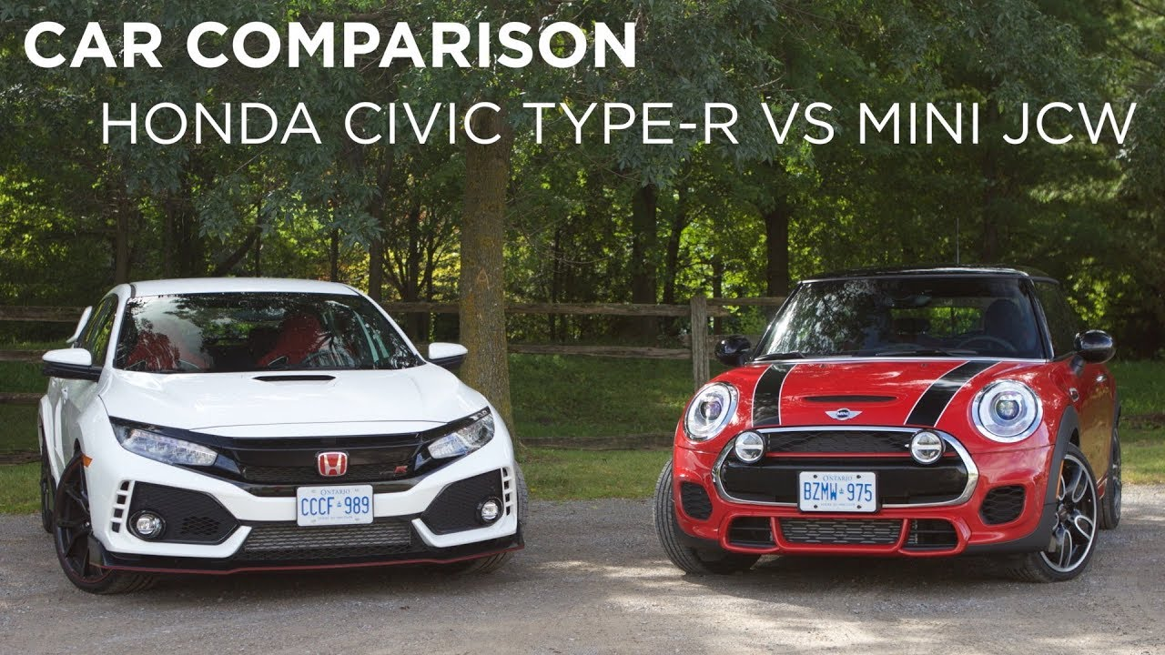 Car Comparison Honda Civic Type R Vs Mini Jcw Driving Ca