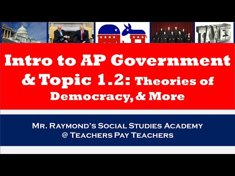AP Government: Part I Theories on Democracy