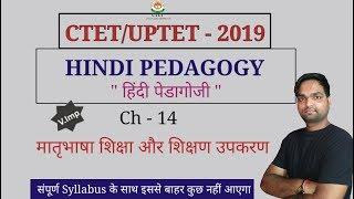मातृभाषा शिक्षा और शिक्षण उपकरण ( हिंदी पेडागोजी ) for  CTET,UPTET & TET Exams