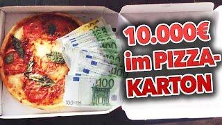 10.000€ im PizzaKarton GEFUNDEN !!! PRANK