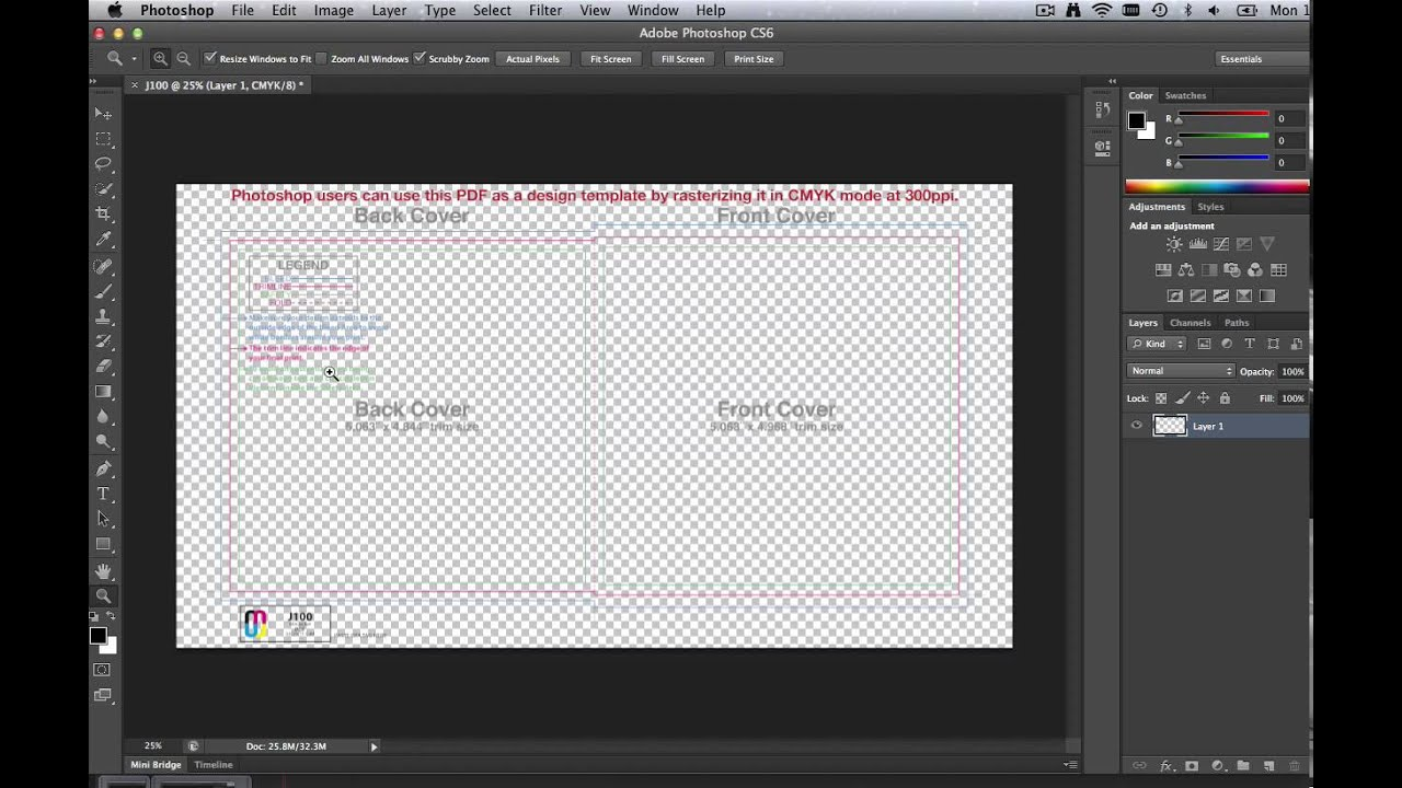 How To Use CD Templates In Adobe Photoshop - YouTube