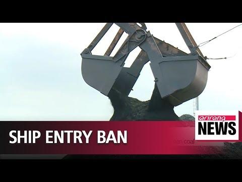 South Korea bans ships that brought in North Korean coal