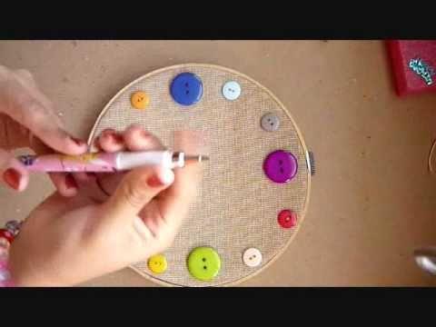 Reloj con botones f cil youtube - Reloj de pared adhesivo ...