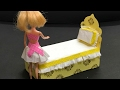 DIY Barbie Doll Bed : How to Barbie furniture : Doll House