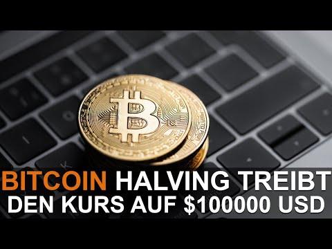 BITCOIN HALVING TREIBT DEN KURS ZU $100,000 USD