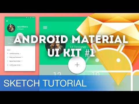 Sketch 3 Tutorial Android Material UI Kit 1 Sketchapp Tutorial Design ...