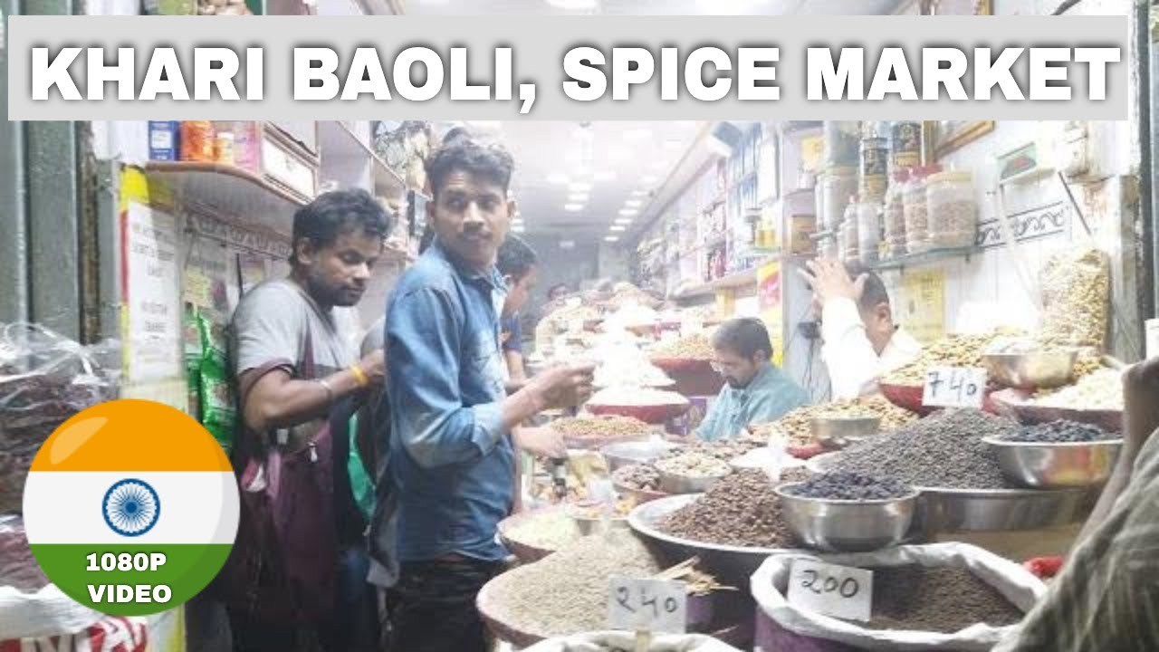 Walking in India, Old Delhi. Khari Baoli Spice Market. (Walking Mediation 1080p). #27