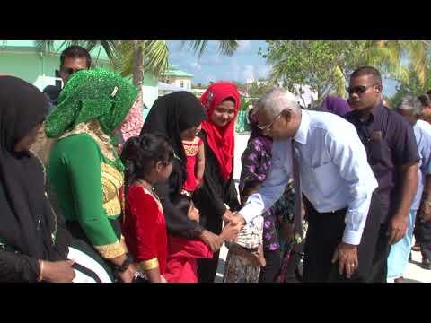 President arrives in Dhiffushi, Malé Atoll - 01/12/2018