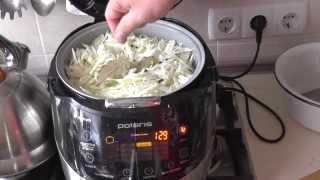 Капуста тушеная в мультиварке Polaris 0517. Cabbage braised in Multicookings