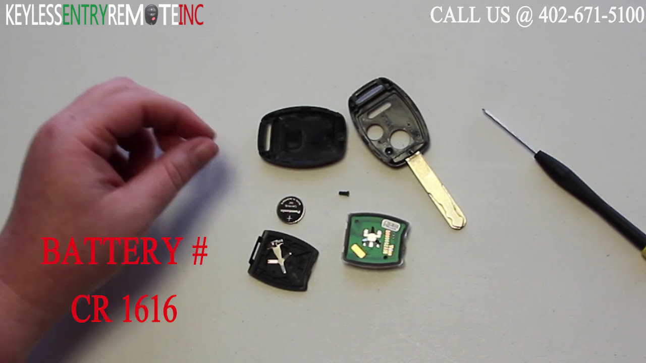 How To Replace Honda Fit Key Fob Battery 2007 2008 2009 2010