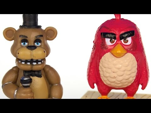 Angry Birds Battle the Five Nights at Freddy's Animatronics!!!!!!