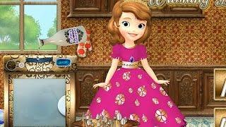 NEW Игры для детей—Disney Принцесса София первая стирка—мультик для девочек