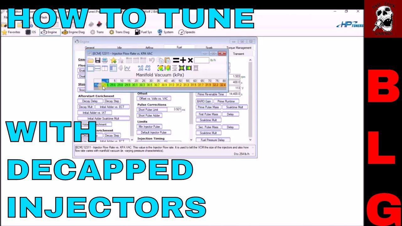 HOW TO TUNE DECAPPED INJECTORS IN HP TUNERS (Gen III PCMs)