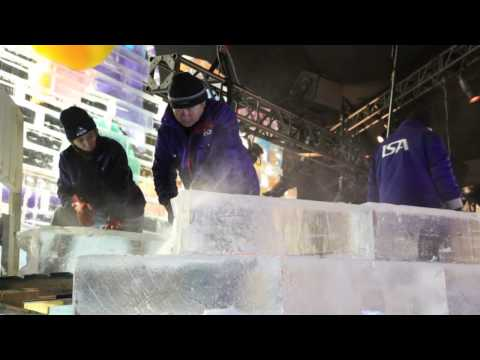 Ice sculptures at the Gaylord Texan