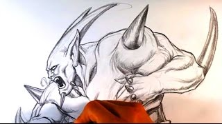 How to Draw Omega Shenron from Dragonball GT - Draw Fantasy Art