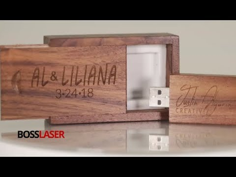 Laser Engraved Walnut USB Flash Drive with Wood Case