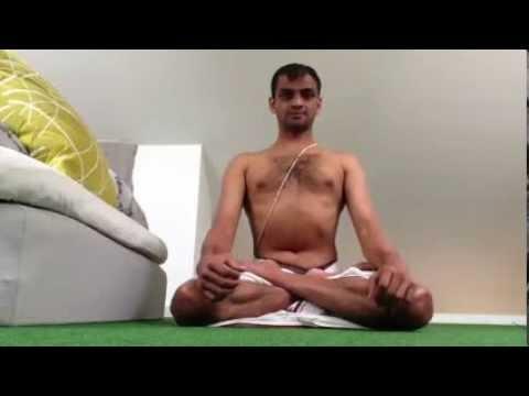 R. Sharath Jois Teaching Pranayama