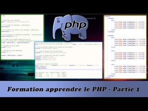 Formation apprendre le PHP   Partie 1/17