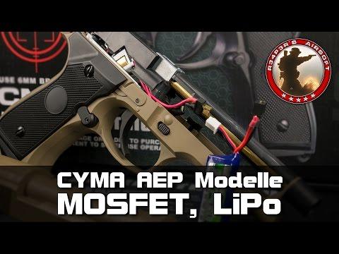 [Tech] Cyma AEP Mosfet, LiPo-Umbau/Einbau (CM.030, 121, 122, 123, 126) Airsoft/Softair 4K UHD