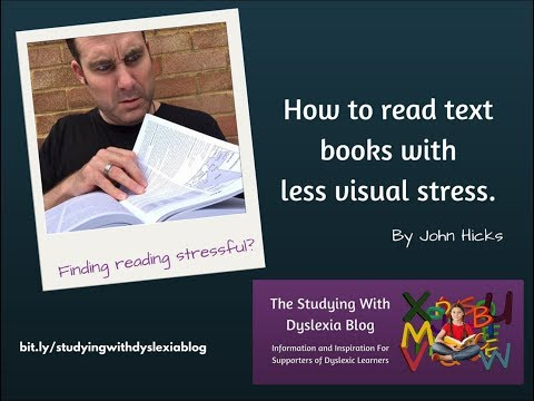How To Read Text Books With Less Visual Stress.