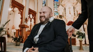Groom in Wheelchair Sobs as He Sees Wife During Canada Wedding