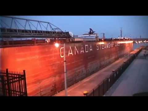 Ship YUKINA departs Lock 7, Welland Canalиз YouTube · Длительность: 4 мин49 с