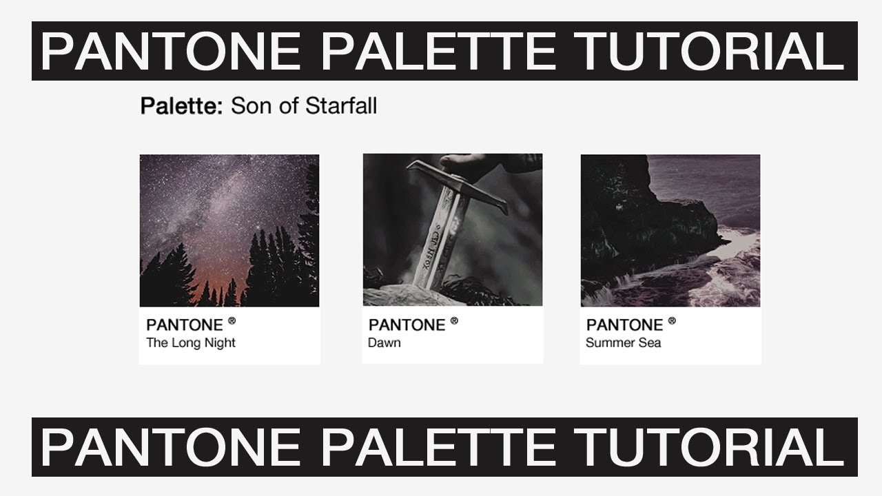 PANTONE® Palette TUTORIAL | + Download Template PSD - YouTube