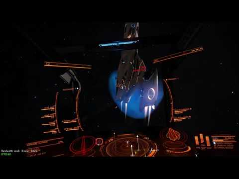 Elite: Dangerous (Beta 2.2.03) Beam Laser Efficiency Mod Heat vent test