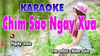 Chim Sáo Ngày Xưa Karaoke 123 HD (Tone Nam) - Nhạc Sống Tùng Bách