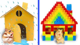 Pet Hamster LEGO Build Challenge DIY Rainbow House - Lego Cartoon by Life Of Pets Hamham