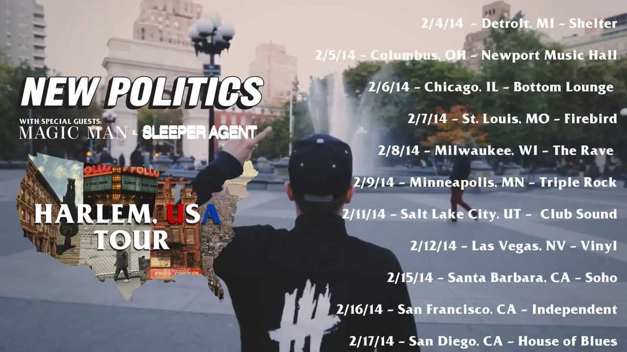 New Politics - Harlem USA Tour Annoucement