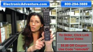 Sharp TV Remote Control- Save $5 Code -RRMCGA935WJSA (GA935WJSA) ElectronicAdventure.com