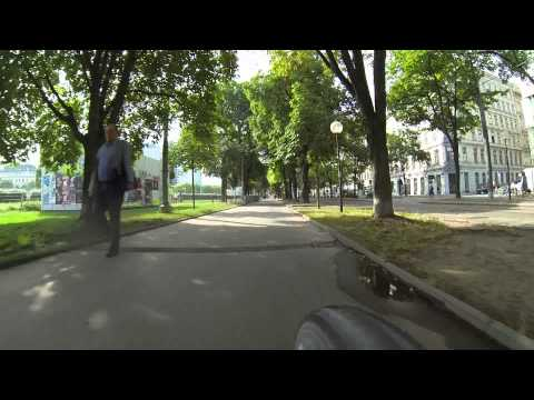 Bike trip Vienna - Ottakring (home) to  Donau City (work place)