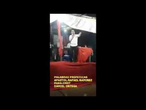 Apostol rafael martinez profetiza a daniel ortega saavedra y los guerreros de Dios en nicaragua