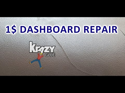 1$ CRACKED DASHBOARD REPAIR *CRAZY GLUE*