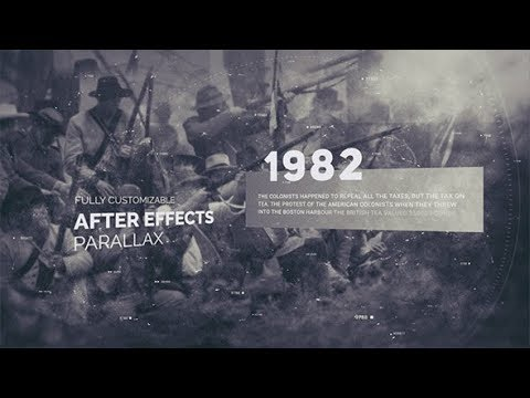 history timeline opener after effects template youtube