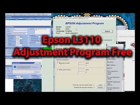 Epson L3110 Resetter or Adjustment Program Free