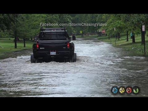 Heavy Street Flooding in Wichita, KS - 5/19/2017