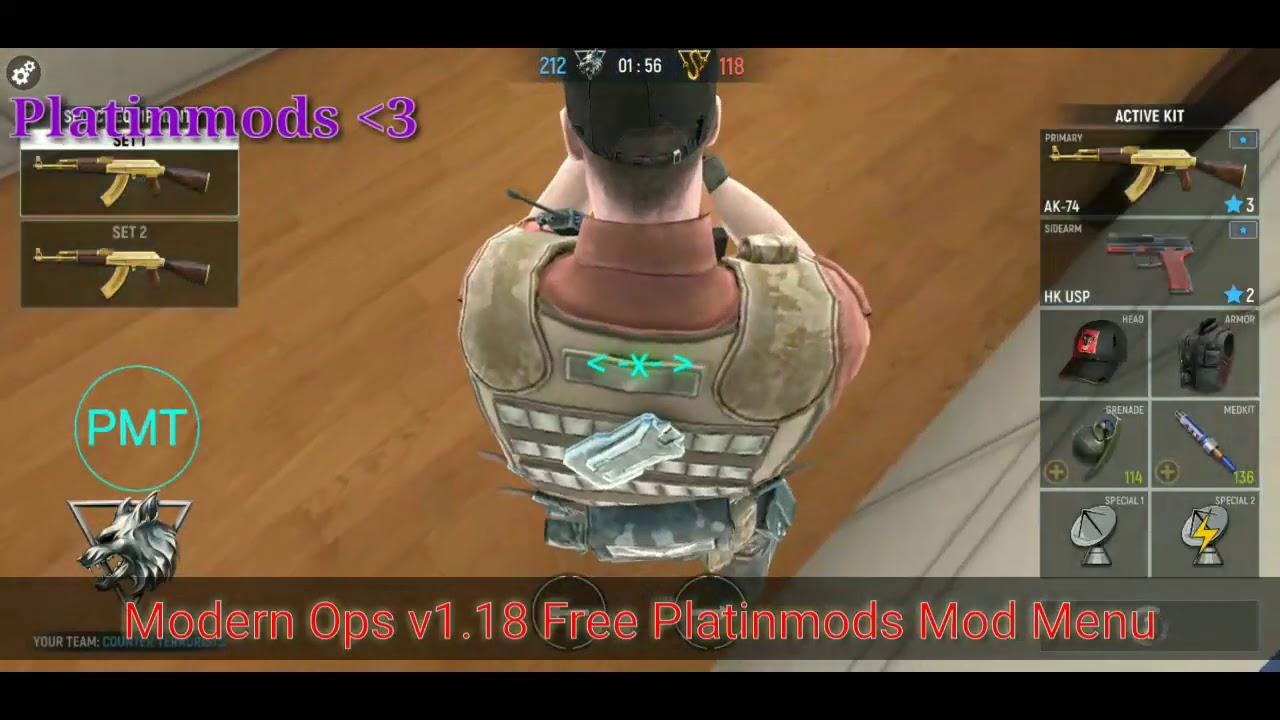 Modern Ops v1 18 Platinmods Mod Menu Apk *Released!* ★Killstreak, Super  Jump, & More!★ ~ Liquified