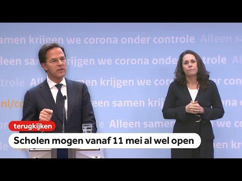 LIVE: Rutte over coronamaatregelen na 28 april